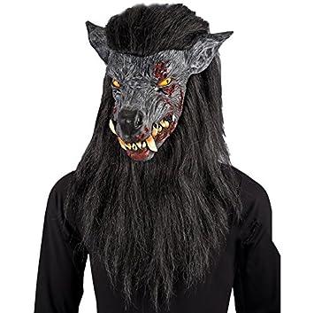 Carnival Toys Máscara del hombre lobo desagradable con el pelo y el cabello [1025]