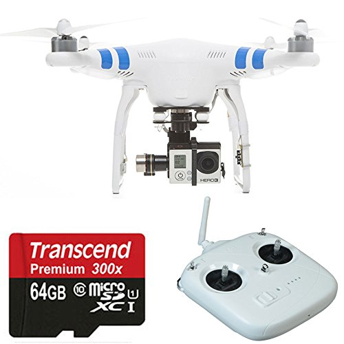 DJI Phantom 2 Quadcopter V2.0 Bundle with 3-Axis Zenmuse H3-3D Gimbal for GoPro3+ 3 4 With 64GB Micro SD Card Kit