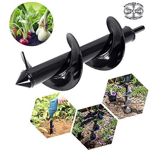 Mcg Auger Drill Bit Backyard Plant Flower Bulb Auger 3″x10″ Hex Drive Drill Backyard Plant Gap Digger Drill Bit,DIY Guru Auger,Bulb & Bedding Plant Auger,Backyard Bulb Planters