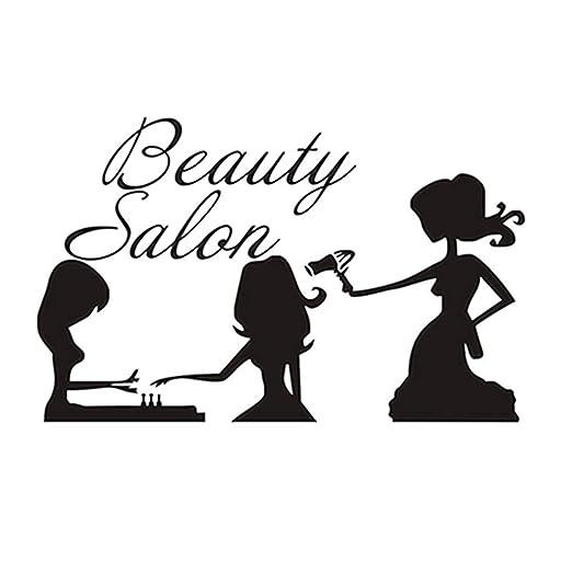 Moda salón de belleza estilo del pelo del clavo calcomanías ...