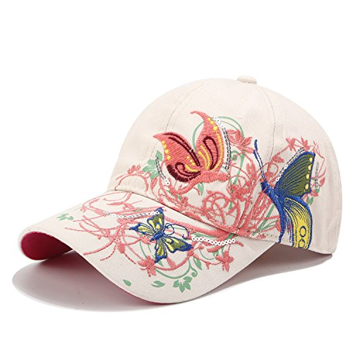 - Taihemingna 2018 New Women Cotton/Embroidered Caps Hat Hat Flower Baseball Sport Golf Adjustable Breathable Sun Hat Baseball Running Cap Sunhat Mesh Sunbonnet Outdoor (White)