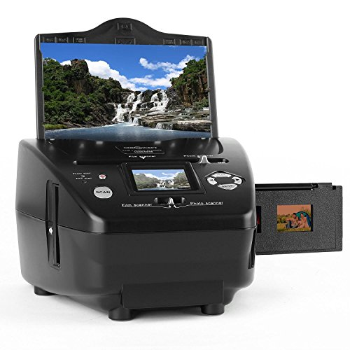 oneConcept Combo Dia-Film-Foto-Scanner bis 13x18cm & 35mm Dia (5,1 Megapixel, 3600dpi) 6cm TFT Monitor zur Scankontrolle ohne PC