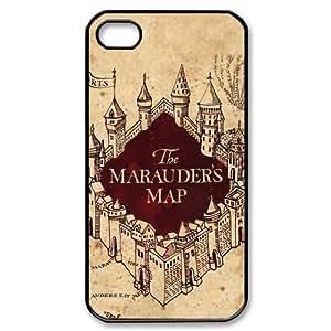 Harry Potter Marauder's Map Cool DIY Custom Hard Plastic Back Case Cover for iPhone 4 4s