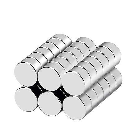 Imanes de neodimio, de Bukm, 10 x 3 mm, imanes extrafuertes, 36 piezas para frigorífico, cristal magnético, pizarras magnéticas, etc