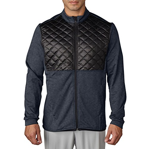 Adidas Golf 2016 Climaheat Prime Fill Insulated Quilted Mens Golf Thermal Jacket Dark Grey Heather/Black Small by adidas