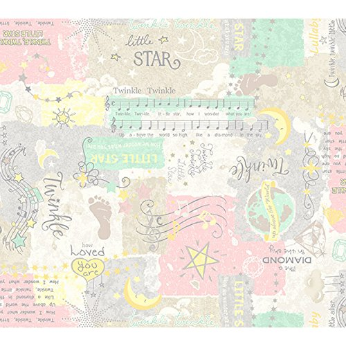 Marcus Songbook Flannel Little Star Pink Twinkle