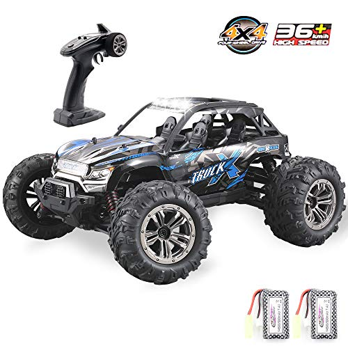 GMAXT Rc Cars 9137 Remote Control Car,1/16 Scale 36km/h,2.4Ghz 4WD High Speed Off-Road Vehicles with Car Light and 2 Rechargeable Batteries, Double Battery Double Play Time