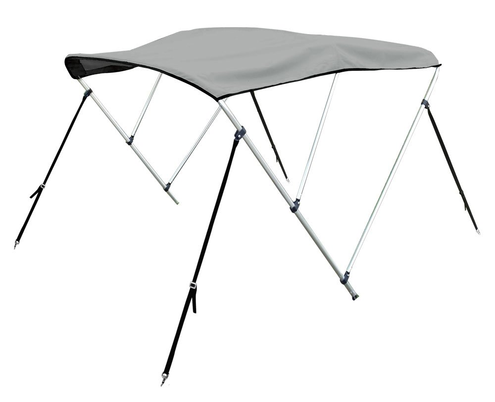 Bimini Top Boat Cover 54'' H X 73''-78'' W 6' Long 3 Bow Gray by Marine and RV Direct