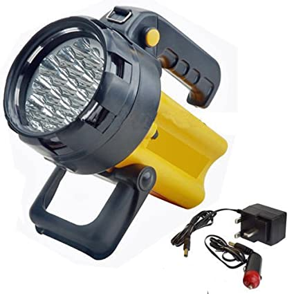 37 LED TORCH RECHARGEABLE SPOTLIGHT SECURITY TORCH LANTERN WORK LIGHT POWER