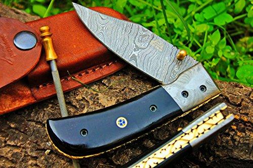 DKC Knives (8 7/18) Sale DKC-122 Night Rider Damascus 4.5' Folded 8