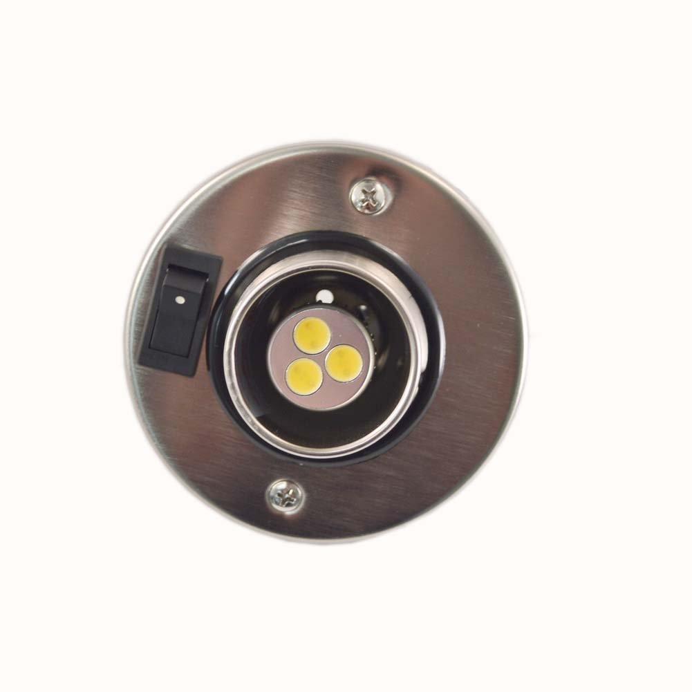 12 Volt Brushed Nickel Warm White LED Eyeball Reading Light