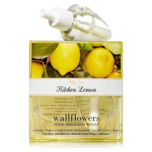 Bath & Body Works Wallflowers Home Fragrance Refill Bulbs 2 Pack Kitchen Lemon by Bath & Body Works