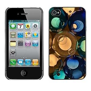 "For Apple iPhone 4 / 4S , S-type svetilnik shary steklo cvet"" - Arte & diseño plástico duro Fundas Cover Cubre Hard Case Cover"