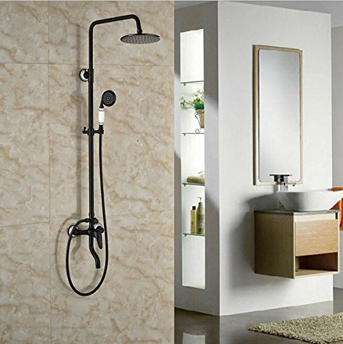 GOWE Wall Mounted Oil Rubbed Broze Shower Set Single Lever With Hand Shower Mixer Tap 0