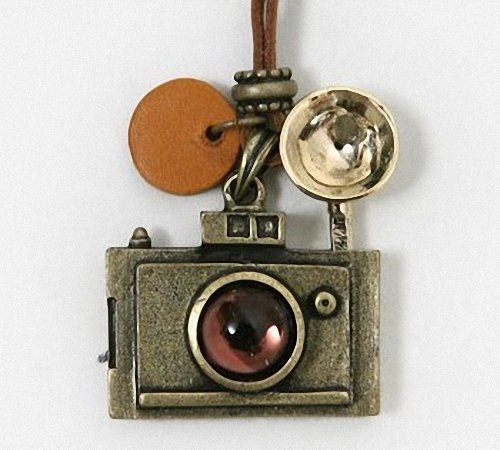 New Retro Camera Photographer Necklace Copper Sweater Chain By U-beauty