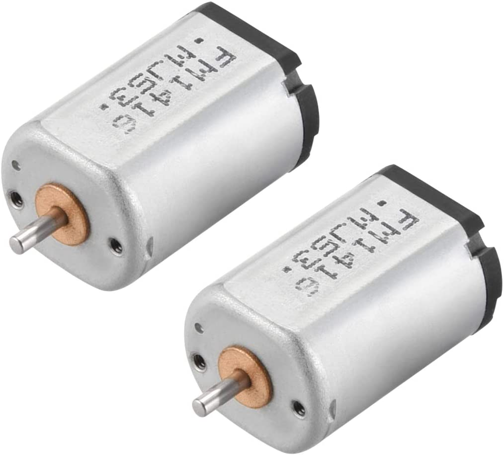 uxcell DC Motor 1.5//4.5V 4500//14000RPM 0.05A Electric Motor Round Shaft for RC Boat Toys Model DIY Hobby 2Pcs