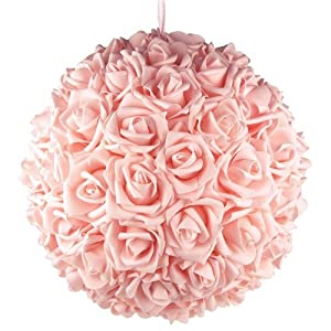 Homeford Firefly Imports Soft Touch Foam Kissing Ball Wedding Centerpiece, 14-Inch, Pink 85