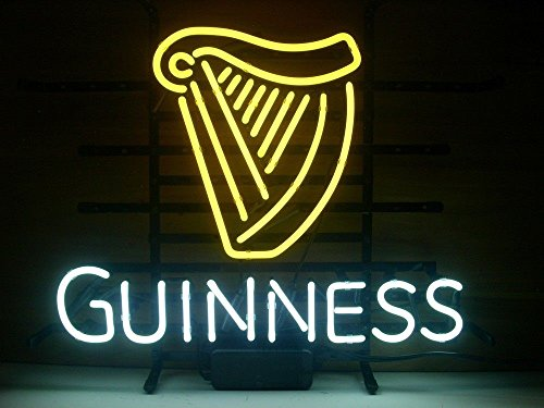 - Guinness Neon Sign Beer Bar Pub Store Party Room Wall Windows Display Neon Light 19x15