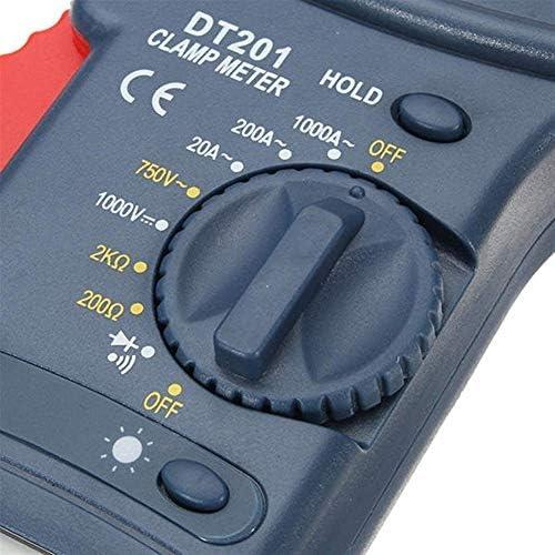 LIZANAN Clamp Meter DT201 Handheld Digital Non Contact Multi Meters Clamp Meter 1000V Voltage Current Resistance Tester Tool Multimeter
