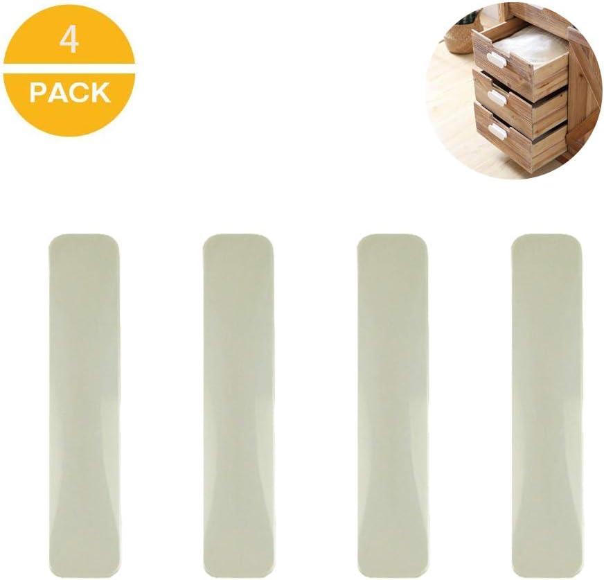 Manija autoadhesiva de cocina, manija auxiliar, manija autoadhesiva de plástico para puertas corredizas y ventanas Armario para gabinete Manija para cajón de gabinete para cocina, 4 piezas (blanco)