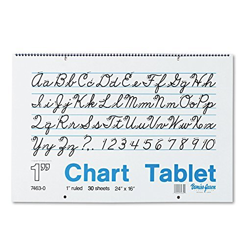 PAC74630 - Two-Hole Punched Chart Tablet with Cursive Cover by Pacon