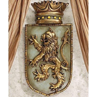 Medieval Rampant Lion Shield Wall Sculpture [Kitchen]