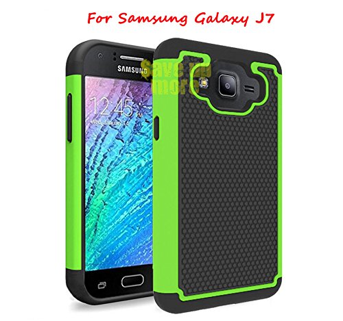 Perfect Drop (Galaxy J7 Case, [Non-Slip][Slim Perfect-Fit][Drop Protection][Shock-Absorption][Impact Resistant] Hybrid Dual Layer Protective Rubber Bumper Case for Samsung Galaxy J7)