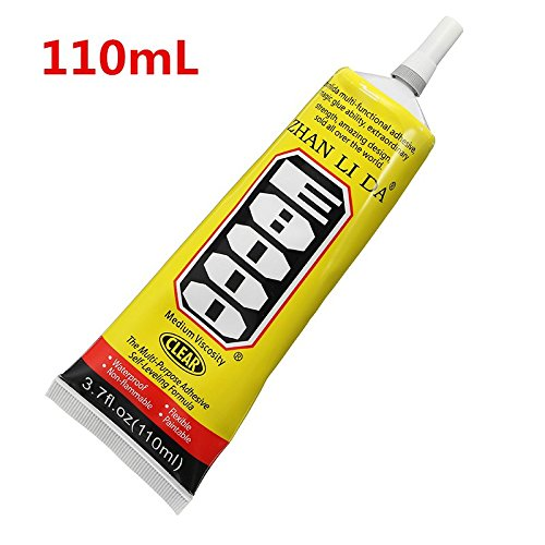 Hitommy E8000 Glue Multi Purpose Clear Self Leveling Acrylic Adhesive Shoes Jewelry DIY Crafts Phone Screen - 110ml
