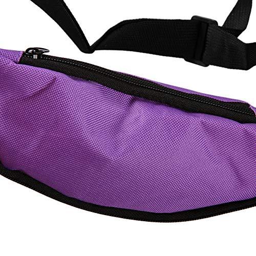 Florenceenid Outdoor Sport Running Hiking Bum Bag Woman Man Fanny Pack Travel Handy Waist Bag Money Belt Zip Pouch Wallet Plain