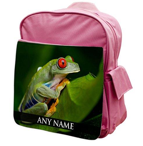 personalisierbar Baum Frosch Animal Pink Rucksack Rucksack 306
