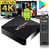 2018 MXQ Pro 4k by A&B Solutions Inc. Android 6.0 TV Box 64 Bit Quad Core RK3229 1GB DDR3 8GB ROM (60Hz) / 4K Full HD / HDMI / H.265 / USB / WiFi 2.4GHz / Ethernet