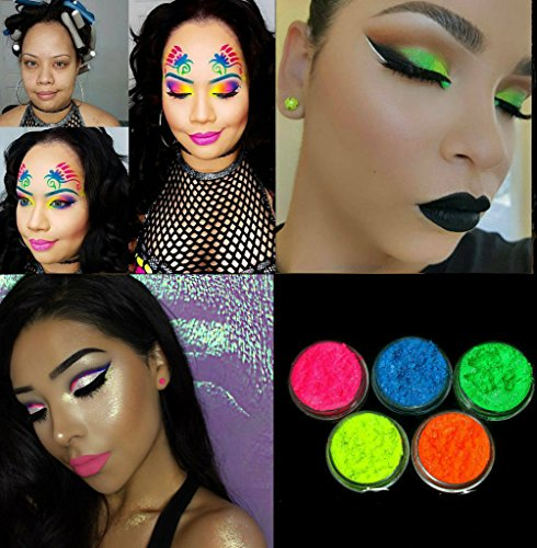 [5 MYO Eyeshadow Pigment Ultra Bright Remix Shimmer Set Mica Cosmetic Mineral Makeup 3 Gram Size (Prep eyelids with a base primer before applying] (Lipstick Halloween Costumes)