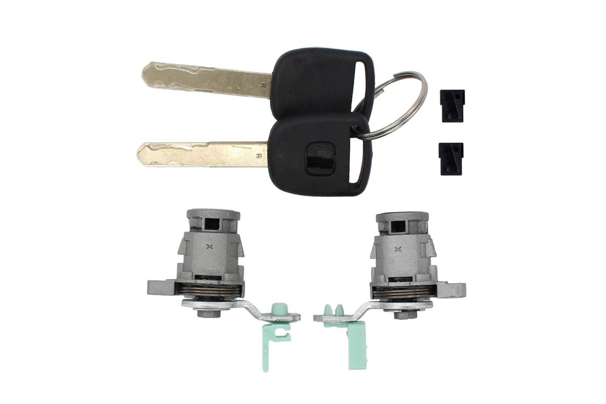Pair of Front Left Driver LH Side & Right Passenger Side RH Door Lock Cylinder Keys Set For Honda Accord 1998-2002,Civic 2001-2005,Odyssey 1999-2004, S2000 2000-2009 72145-S73-003 72146-S73-003