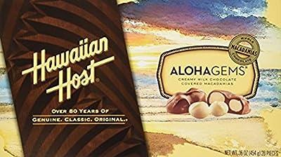 Hawaiian Host Alohamacs Dark Chocolate Covered Macadamia Nuts (1 Box)