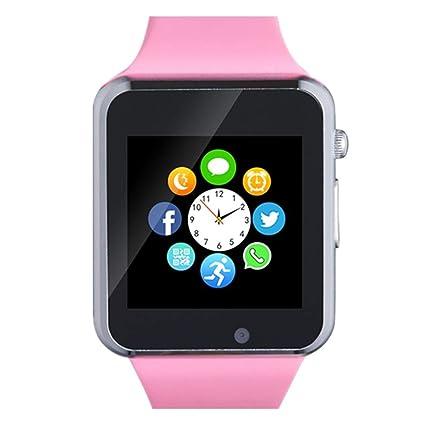 321OU Smart Watch Touch Screen Bluetooth Smart Watch Smartwatch Phone Fitness Tracker SIM SD Card Slot Camera Pedometer Compatible iPhone iOS Samsung ...
