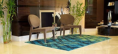Luxury Fashion Distressed Area Rugs for Living Rooms 8x11 Area Rugs on Clearance Blue Green Black Area Rug 8x10 Contemporary Rugs Blue, Large 8x11 Rug