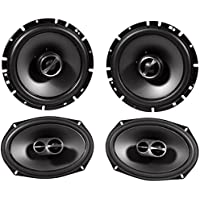 Package: Pair of Alpine SPS-619 6 x 9 3 Way Coaxial Car Speakers Totalling 520 Watt Peak / 170 Watt RMS + Pair of Alpine SPS-610 6.5 2 Way Coaxial Car Speakers Totaling 480 Watt Peak / 160 Watt RMS