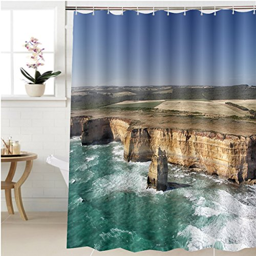 Great American Park Aerial (Gzhihine Shower curtain aerial view of the twelve apostles at the great ocean road in the port campbell national park Bathroom Accessories 72 x 108 inches)