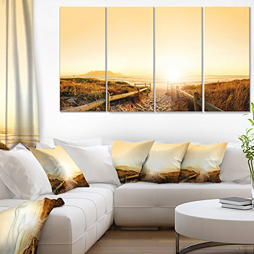 Designart Beach near Cape Town Panorama Photography on Canvas Art Wall Photgraphy Artwork Print by Design Art