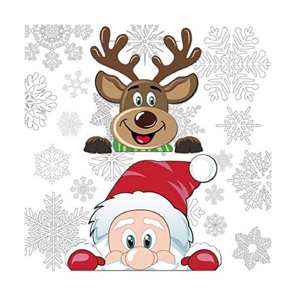 Adesivi Decorativi Natalizi,Yuson Girl Romantic Atmosphere Natale Fiocchi Di Neve Finestra Decori Adesivi per Natale Partito Casa Bambini Decor 4 spesavip