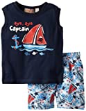 Kids Headquarters Baby Boys' Muscle Tee With Swim Trunks