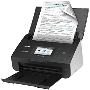 Brother ads1500w compact color desktop scanner for Brother ds 920dw wireless duplex mobile color page scanner white