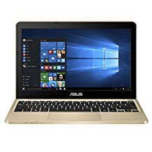 "Asus Portable 11.6"" Intel Quad-Core Laptop 4GB Ram 32GB Storage, Windows 10, Aurora Gold (E200HA-UB02-GD)"