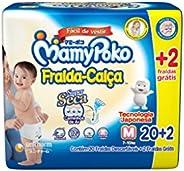 Fralda-Calça MamyPoko Tamanho M, Pacote com 22 unidades
