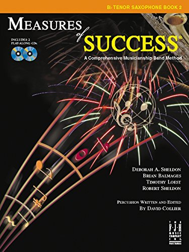 Sax Saxophone Sheet Music Book (FJH Music Measures of Success B-flat Tenor Saxophone Book 2)