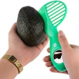 Vremi 3 in 1 Avocado Slicer and Pitter Tool - Avocado Peeler Cutter Masher and Skinner for Kitchen to Slice and Scoop Avocados - Stainless Steel Pitter - Avocado Kitchen Tool Utensil - Green