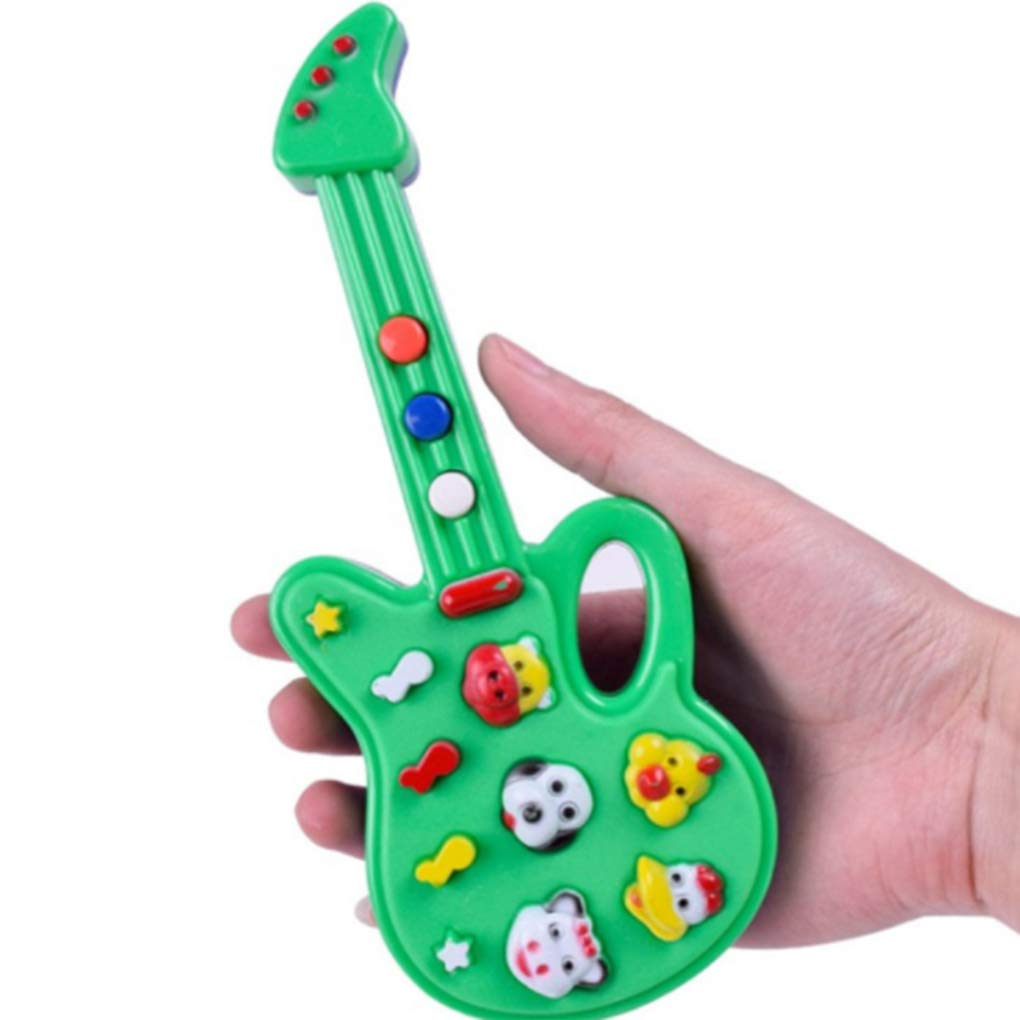 Amazon.com: Plastic Mini Kids Electric Music Guitar Cartoon Animal Baby Learn Educational Toys Children Musical Instrument Random Color: Everything Else