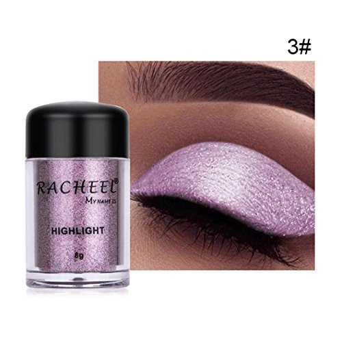 Sparkly Loose Powder EyeShadow, Keepfit Fashion Cosmetics Makeup Glitter Gold and Silver Eye Shadow Pigment for Women (C)