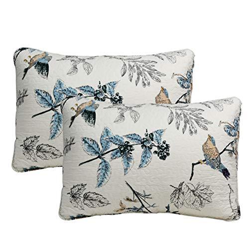 Sham Pillow Cotton Floral - Brandream 100% Cotton Pillow Shams 2-Piece American Country Style Shams Bedroom Decor