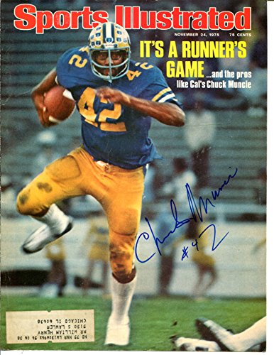 Chuck Muncie Signed Sports Illustrated Cover Only 8x10 Autograph Cal Bears 21684